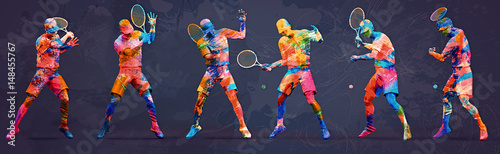 Abstract tennis player © adimas