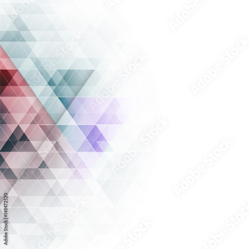 Abstract colorful triangles geometric background. Vector illustration.