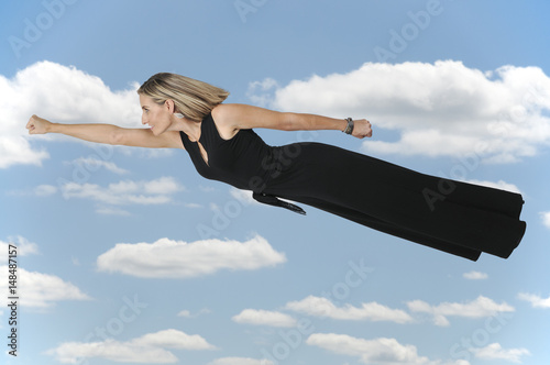 Falling or Flying Woman Poster