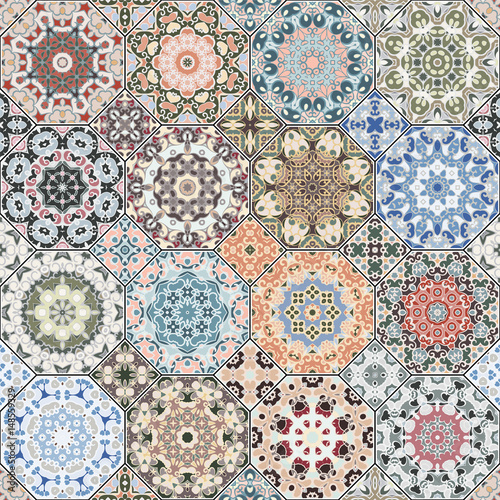 Set of octagonal and square patterns. - 148559329
