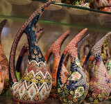 Oriental vases in Istanbul Bazaar
