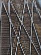 Weiche einer Eisenbahn - 148746966