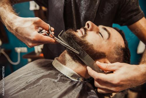 Barber's beard cuts a hipster Plakat