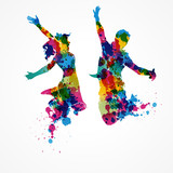 silhouettes colorées/ concept - 148759599
