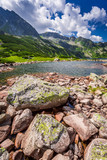 Wonderful lake in the mountains and rocks, Poland, Europe