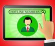 Hotline Numbers Representing Shows Online Help 3d Illustration
