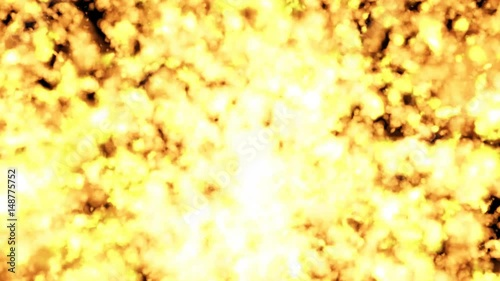 Many particles. Atomic particles. The motion of particles in space © EV_Korobov