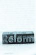 written reform in lead characters - 148801315