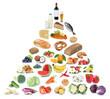 Gesunde Ernährung Ernährungspyramide Essen Obst und Gemüse Früchte Freisteller