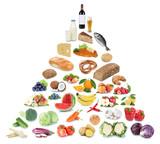 Gesunde Ernährung Ernährungspyramide Essen Obst und Gemüse Früchte Freisteller - 148805765