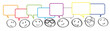 Team kommuniziert - Strichmännchen-Köpfe mit bunten Sprechblasen