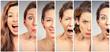 Woman changing mood