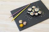 Sushi rolls with salmon © lexashka