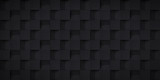 Volume realistic texture, cubes steps, black 3d geometric pattern, design vector dark background