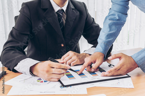 Corporate Business Planning with business chart Teamwork Concept Poster