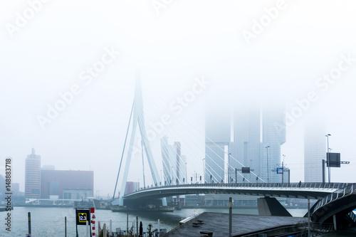 In de dag Rotterdam ROTTERDAM, Netherlands - February 7, 2017 : Street view of Port of Rotterdam, the nickname