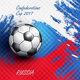Soccer Confederation Cup 2017 background.