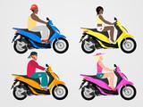 Scooter band set. Flat style.