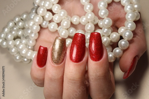 Asian manicure poster