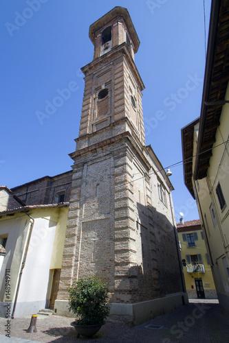 campanile della chiesa di san giuseppe ad alba in provincia di cuneo piemonte it Poster