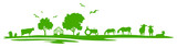 Silhouette Feld und Tiere - 148966172