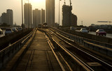skytrain railway in town