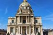View on napoleon grave building, blue sky, paris city, france
