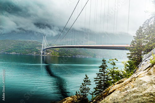 Hardanger bridge. Hardangerbrua. Norway.