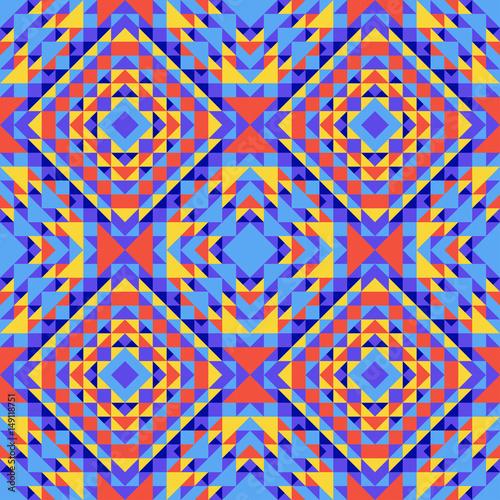 Materiał do szycia Etniczne geometrycznej wzór z elementami tradycyjnych plemiennych stylu ludowym.