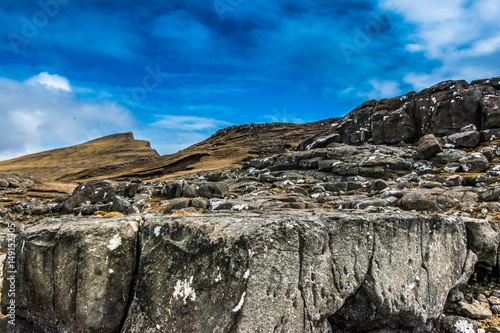 Foto op Canvas A Beautiful landscape with rocks