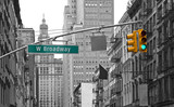 Fototapeta Nowy York - West Broadway street sign in New York, USA © gdvcom