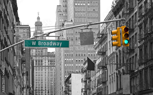West Broadway street sign in New York, USA - 149212531
