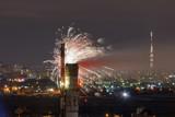 Urban fireworks in Kiev.