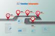 Road map Timeline Infographic, Vector Illustration - 149292133