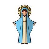 Holy virgin mary icon vector illustration design - 149297703