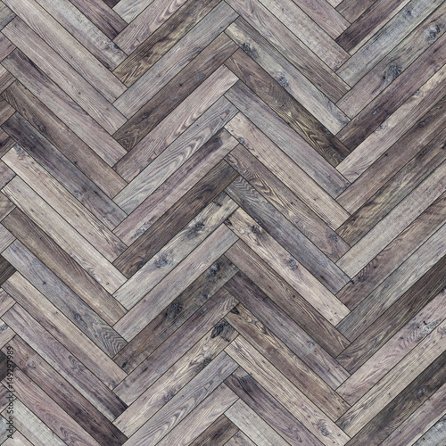 Seamless wood parquet texture (herringbone neutral) - 149297989