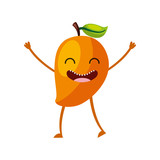 mango fresh fruit kawaii character vector illustration design - 149300724