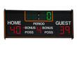 Basketball scoreboard isolated