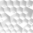 Abstract Cube Background. White Futuristic Wallpaper