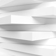 Abstract Architecture Graphic Design. White Modern Wallpaper