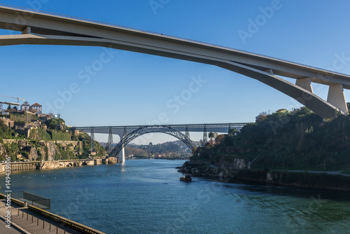 Poster Prince Henry Bridge between cities of Porto and Vila Nova de Gaia, Portugal
