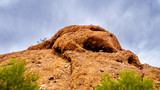 Erosion of the Red Sandstone Buttes created interesting Rock Formations in Papago Park near Phoenix Arizona
