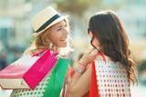 Fototapeta Beautiful Young Woman Enjoying Shopping