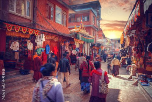 fototapeta na ścianę streets of Kathmandu