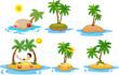 Cartoon tropical island  collection set - 149602796