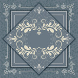 Vintage luxury background with abstract floral pattern.