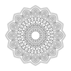 Floral mandala, vector illustration