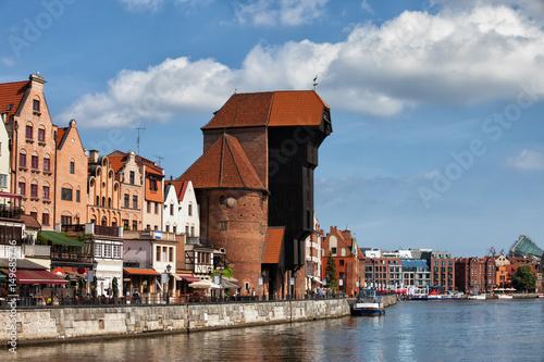 City Skyline of Gdansk in Poland
