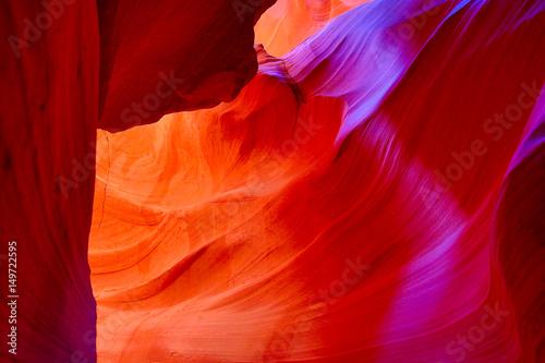 Fotobehang Rood Antelope canyon
