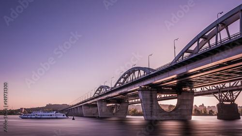 Foto op Plexiglas Kiev High Dynamic Range Imaging. Metro bridge. Kiev,Ukraine